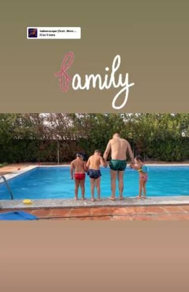 Kiko Rivera disfruta junto a sus hijos y su sobrino de un verano en Cantora
