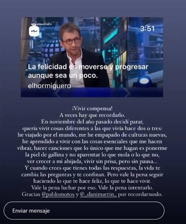 Alfred García Instagram Stories