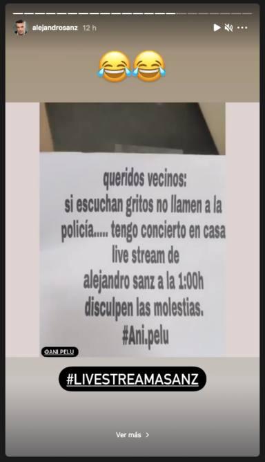 El divertido aviso de una fan de Alejandro Sanz