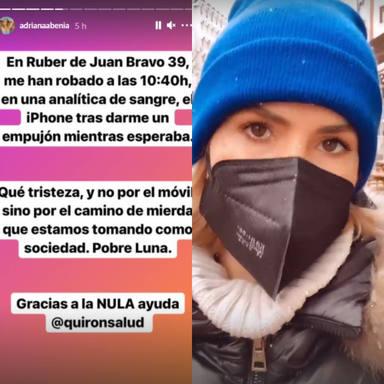 Adriana Abenia denuncia un robo en el hospital