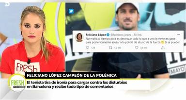 Alba Carrillo contra Feliciano López
