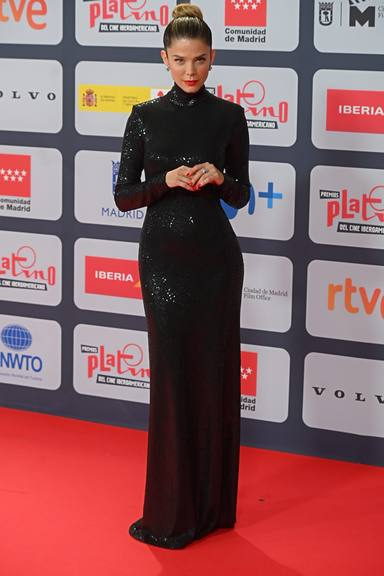 at photocall for Platino awards 2021 in Madrid on Sunday, 03 October 2021.