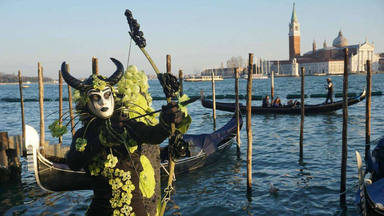 Flight of the Angel event at the 2017 Venice Carnival