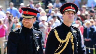Así fue el histórico reencuentro de los príncipes Guillermo y Harry en el funeral del duque de Edimburgo