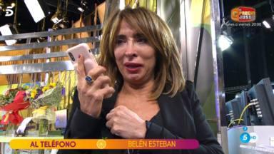 María Patiño, sin respiración, se derrumba en directo y vive uno de sus peores momentos en la televisión