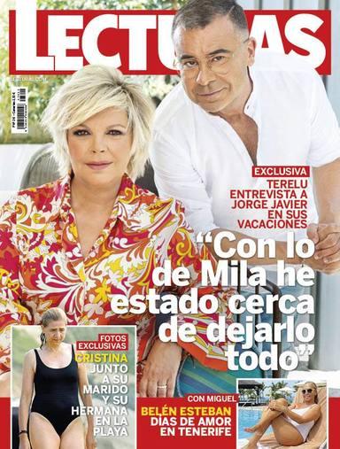 Jorge Javier Vázquez entrevistado por Terelu Campos en la portada de la revista Lecturas