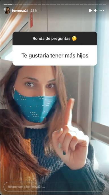 Irene Rosales habla con sus seguidores en Instagram