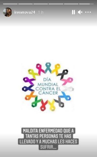 El mensaje de Irene Rosales sobre el cáncer