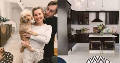 El salón y la cocina, en un collage