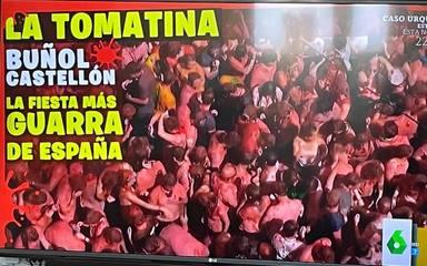 Polémica imagen de la Tomatina ofrecida en Zapeando y que generaba revuelo en las redes sociales