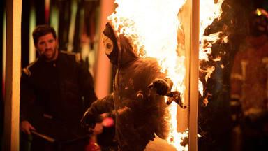 Jorge Brazález se juega la vida envuelto en llamas y consigue ganar el cuarto programa de 'El Desafío'