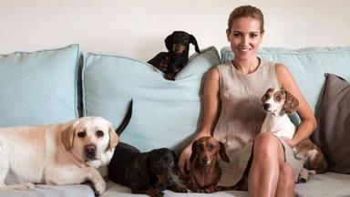 Ana Fernández, encantada con su gran familia perruna