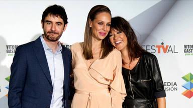 Juanra Bonet, Eva González y Vanesa Martín en la presentación de 'La Voz Kids' en el FesTVal