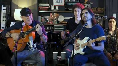 Alejandro Sanz y Juanes actuaron en directo a través de Internet y aquí podemos verlo