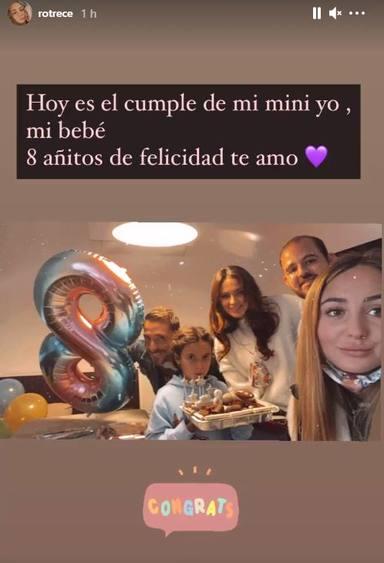 Cumpleaños Lola hija Antonio David Flores y Olga Moreno