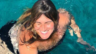 Carlota Corredera en esa imagen de sus vacaciones donde ha recibido el comentario sobre Rocío Carrasco