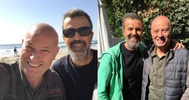 Jorge Plané con Pau Donés en Santa Mónica