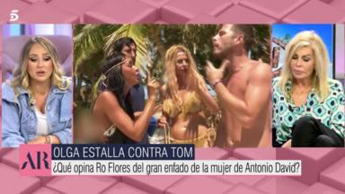 El incómodo pique de Joaquín Prat y Rocío Flores en pleno directo en El programa de Ana Rosa: Olga lo sabe
