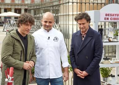 Javier Goya, uno de los hosteleros más importantes de Madrid, durante su paso por 'MasterChef'