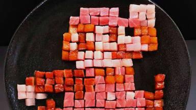 ¿Sabrías adivinar qué icónico personaje recrea este plato?