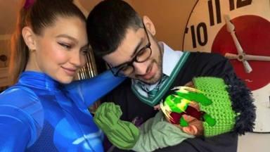 Gigi Hadid y Zayn con su hija