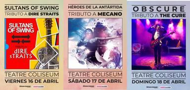 Tres grans concerts tribut al Coliseum