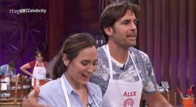 Tamara Falcó y Àlex Adróver en 'Masterchef celebrity'
