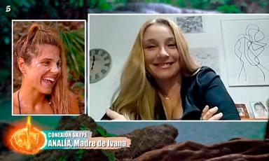 Ivana Icardi recibe la llamada de su madre Analía
