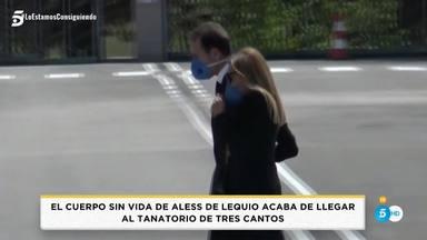 Ana Obregón y Alessandro Lequio en su llegada al cementerio para despedir a su hijo Álex