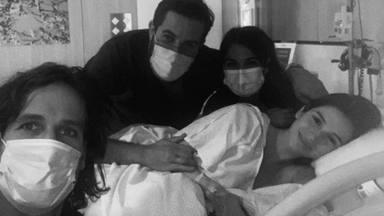 Sandra Gago tras el parto