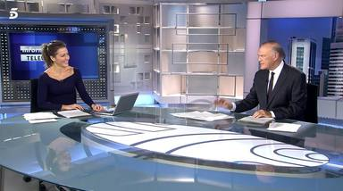Pedro Piqueras saca los colores a Ángeles Blanco en directo desde 'Informativos Telecinco'