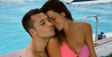 Laura Matamoros y Benji Aparicio durante sus vacaciones. Instagram