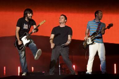 El Canto del Loco en un concierto un par de años antes de anunciar su separación como banda