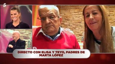 Teyo, el padre de Marta López, aparece en televisión por primera vez en 19 años