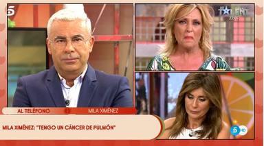 Los colaboradores de Sálvame, impactados al conocer que Mila Ximénez padece cáncer de pulmón