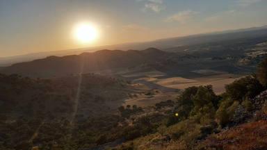 Puesta de sol en Mina La Mejicana