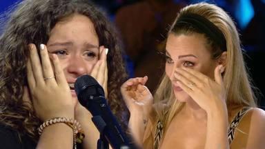 Edurne se emociona con la actuación de Elsa cantando el Padre Nuestro en 'Got Talent'