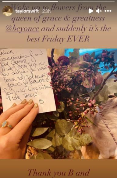 Beyoncé se rinde ante Taylor Swift con este increíble gesto que no ha dudado en compartir en redes