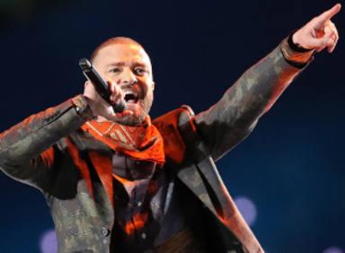 Justin Timberlake utilizó un holograma de Prince en la Super Bowl 2018