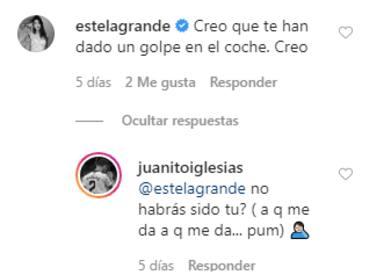 Instagram: Estela Grande y el futbolista Juan Iglesias se comentan