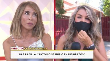 María Patiño promesa muerte de su padre