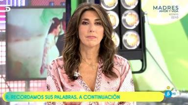 Paz Padilla recibe una calurosa bienvenida en 'Sálvame'