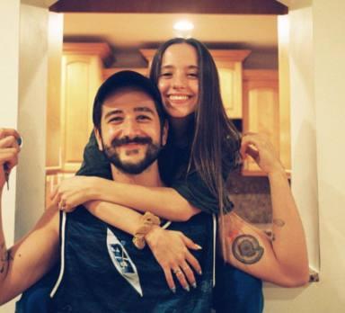 Camilo y su mujer Evaluna Montaner