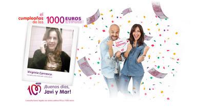 ¡Virginia Carrasco ha ganado 1.000 euros!