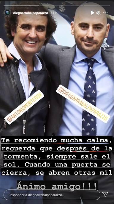 Diego Arrabal lanza un mensaje de apoyo a Antonio Montero tras su marcha del plató de Sálvame