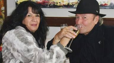Amador Mohedano junto a Jacqueline en una imagen de archivo