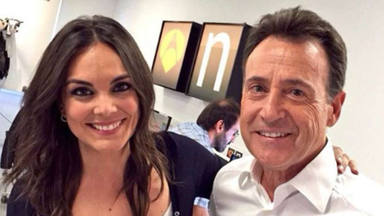 Mónica Carrillo y Matías Prats en los estudios de Antena 3