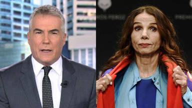 La tajante sentencia de David Cantero a Victoria Abril en pleno sesión de informativos