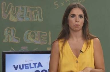 Elena Furiase, exconcursante de 'Masterchef celebrity', en el programa de Telemadrid 'Vuelta al cole'