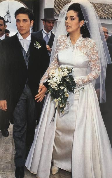 Rocío Carrasco y Antonio David en el día de su boda hace 26 años